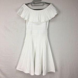 Ted Baker White Dilpree Knit Skater Midi Dress